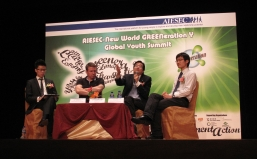 Participants discussed the proper ways to promote global sustainability in panel discussion