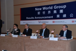 New World Group organizes a press conference to announce its 2010/2011 interim results