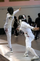 Louise Lo (left), former representative of Hong Kong Fencing Team, will provide professional fencing training to staff members