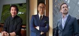 Adrian Cheng (centre) collaborates with Shigeru Ban (left) and Ole Scheeren (right) to create a new art and cultural destination in Hangzhou