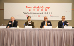 New World Group organizes a press conference to announce its 2015 interim results