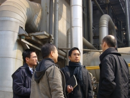 Mr Adrian Cheng (second from right), Managing Director of NWSI and his investment team interview with Biomax's management.